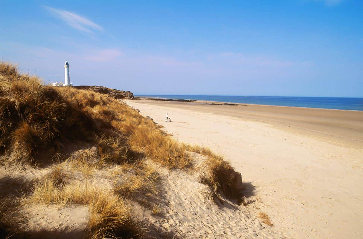 Lossiemouth Beach and dunes.