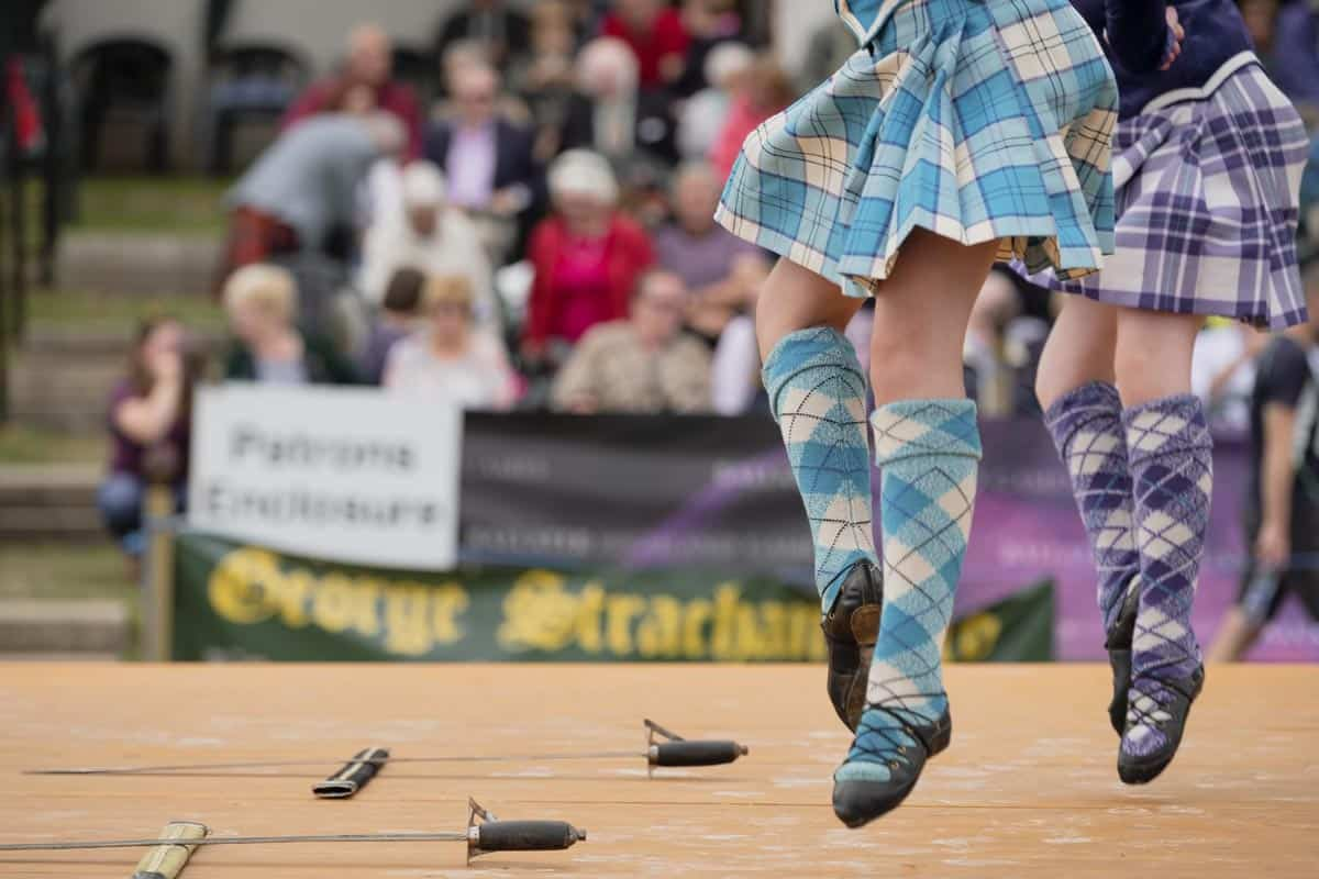Dancers performing at the Highland Games