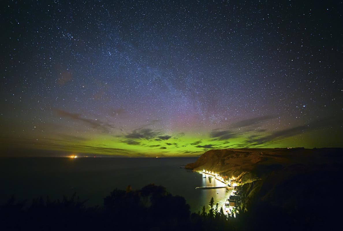 The Northern Lights across the Moray Firth
