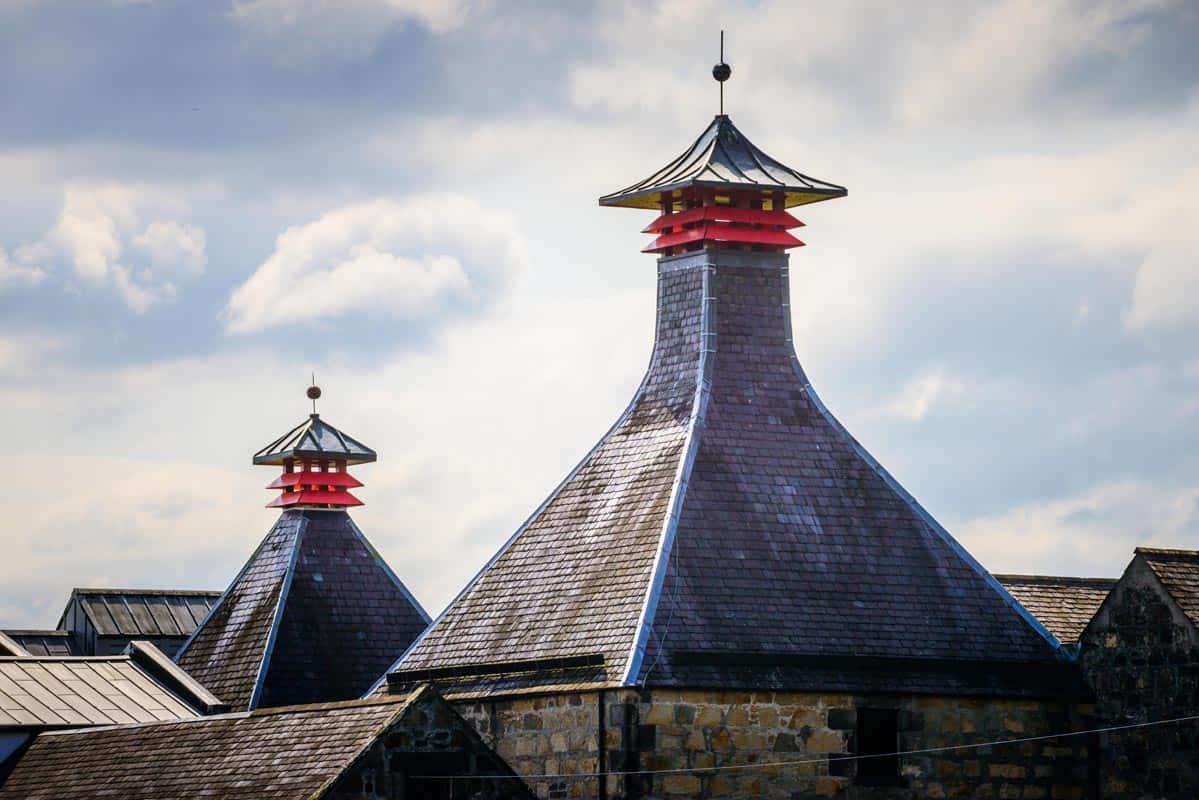 Cardhu distillery near Archiestown, Moray, Scotland.