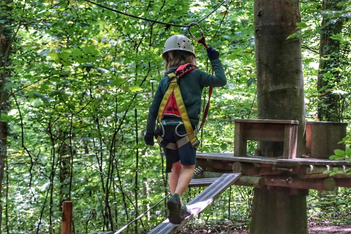 Zip lining and tree treks for the fearless.