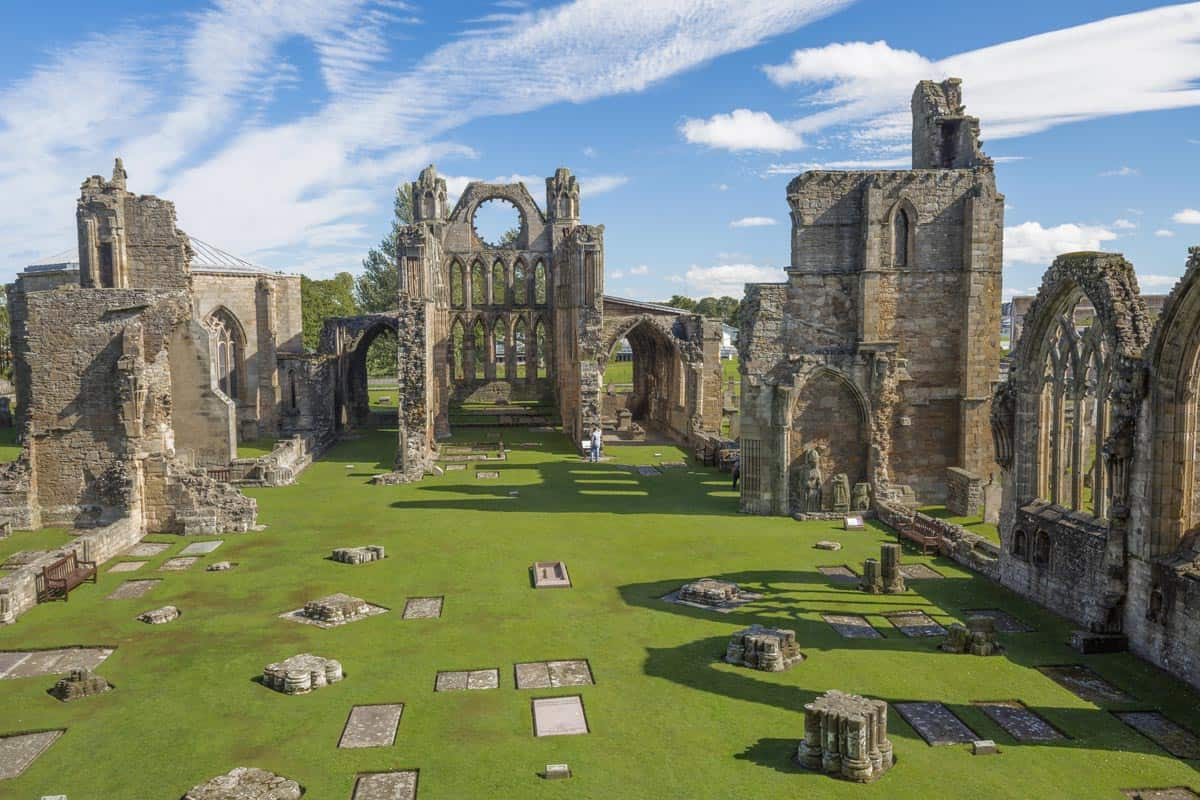 Elgin Cathedral, also known as the 'Lantern of the North' is a majestic, historic ruin situated in Elgin. Moray.